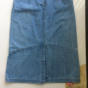 Field Gear Blue Denim Jean Skirt Size 12.